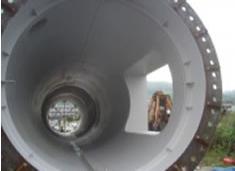 大手鉄鋼メーカー 蒸排煙突工事